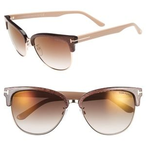 New TOM FORD Fany Brown Cat Eye Sunglasses
